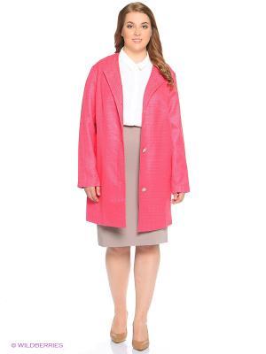 Пальто OLSI. Цвет: розовый