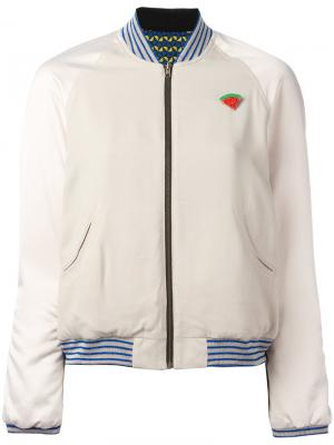 Watermelon patch bomber jacket Bellerose. Цвет: телесный
