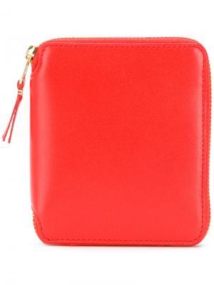 Классический кошелек на молнии Comme Des Garçons Wallet. Цвет: жёлтый и оранжевый