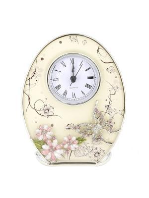 Часы Сиреневые сны овальные JARDIN D'ETE. Цвет: бледно-розовый, белый, сиреневый
