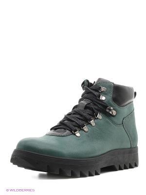 Ботинки San Marko. Цвет: зеленый
