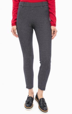 Укороченные брюки в горошек olsen. Цвет: синий