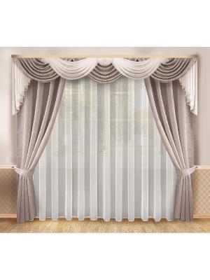 Комплект штор ZLATA KORUNKA. Цвет: серый, белый, черный