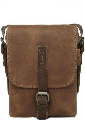 Коричневая сумка из натуральной кожи aunts & uncles. Цвет: коричневый