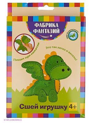 Сшей игрушку Динозаврик с пищалкой внутри Фабрика Фантазий. Цвет: желтый