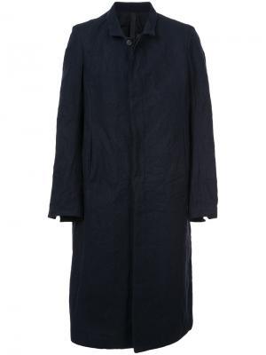 Пальто с мятым эффектом Poème Bohémien. Цвет: синий