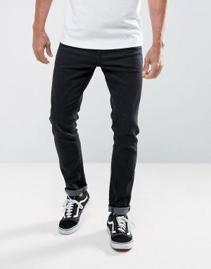 LDN DNM Черные выбеленные джинсы скинни. Цвет: черный