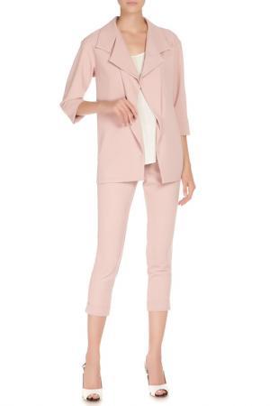Костюм: свободный жакет и укороченные брюки Adzhedo. Цвет: розовый