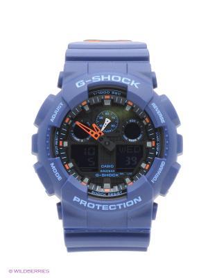 Часы G-Shock GA-100L-2A CASIO. Цвет: синий