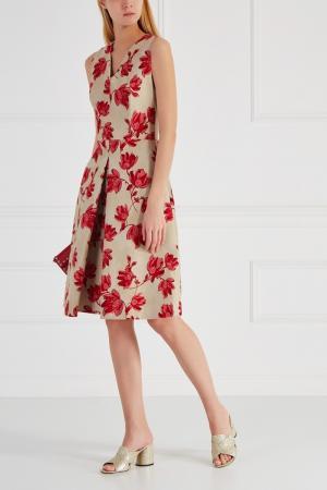 Хлопковое платье Chapurin. Цвет: красный