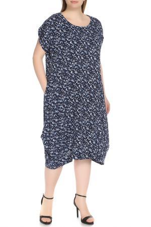 Платье-макси свободного покроя Shalle. Цвет: синий