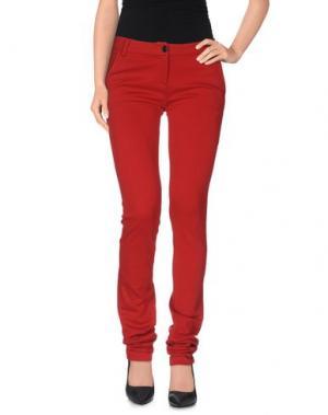 Повседневные брюки GALLIANO. Цвет: красный