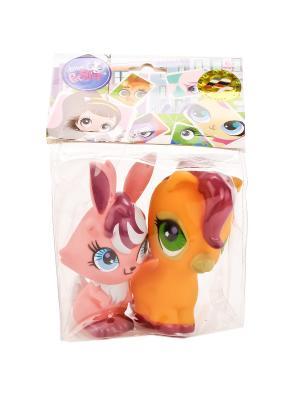 Набор из 2-х игрушек для купания Pet shop . Играем вместе. Цвет: желтый, розовый