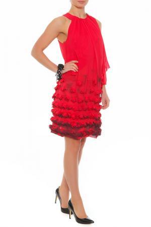 Платье XS MILANO. Цвет: бордовый
