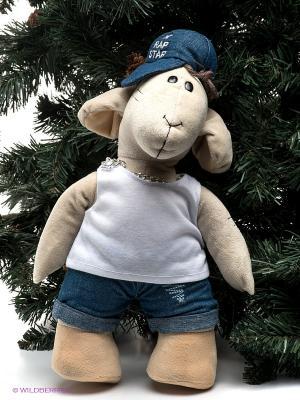 Игрушка Овечка Диджей Fluffy Family. Цвет: бежевый, белый, синий, серебристый