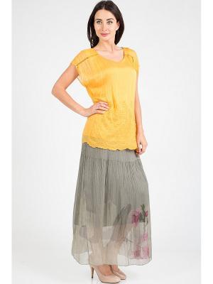 Блузка Amado Barcelona. Цвет: желтый