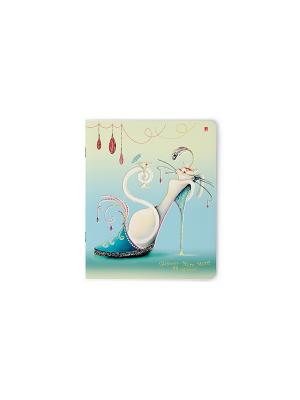 Тетрадь в клетку Гламур мур-мур, 48 листов, 5 шт. Альт. Цвет: синий
