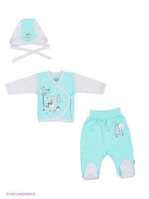 Комплект одежды Лео. Цвет: бирюзовый