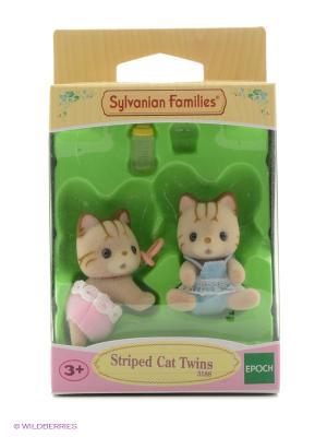 Набор Полосатые котята-двойняшки Sylvanian Families. Цвет: светло-серый