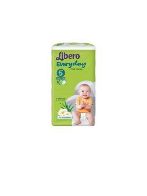 Libero Подгузники детские Every Day экстра лардж 11-25кг 16шт упаковка стандартная. Цвет: зеленый
