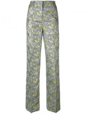 Жаккардовые брюки Netro Essentiel Antwerp. Цвет: серый