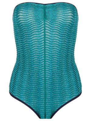 Strapless swimsuit Gig. Цвет: синий