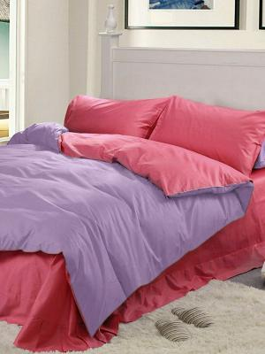 Комплект постельного белья Dream time. Цвет: малиновый, сиреневый