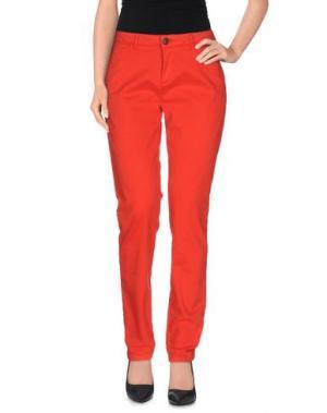Повседневные брюки REIKO. Цвет: красный