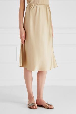 Шелковая юбка Ruban. Цвет: золотой