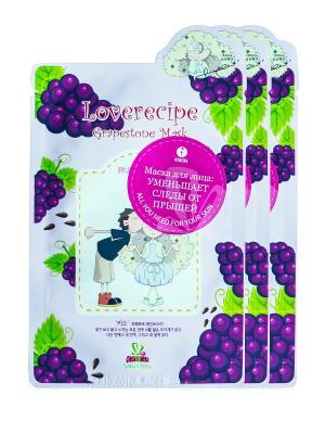 Маска для лица SALLYS BOX с экстрактом винограда, х 3 шт. Sally's. Цвет: фиолетовый