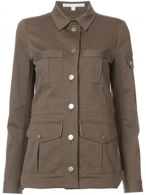 Куртка с карманами карго Veronica Beard. Цвет: зелёный