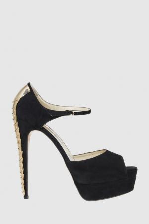 Замшевые туфли Rocyce Brian Atwood. Цвет: черный
