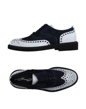 Обувь на шнурках BRUNO BORDESE. Цвет: темно-синий