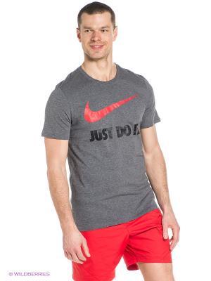 Футболка M NSW TEE JDI SWOOSH NEW Nike. Цвет: темно-серый, красный