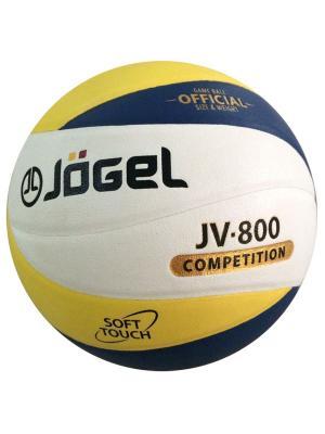 Мяч волейбольный Jogel JV-800. Цвет: синий, желтый