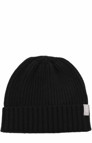Кашемировая шапка фактурной вязки FTC. Цвет: черный