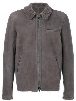 Куртка на молнии с нагрудным карманом Salvatore Santoro. Цвет: серый