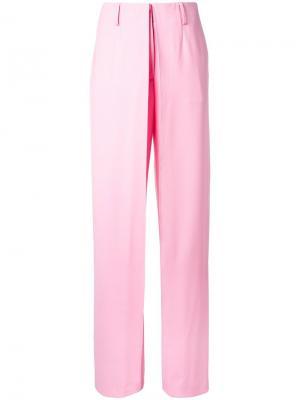 Широкие брюки Aalto. Цвет: розовый и фиолетовый