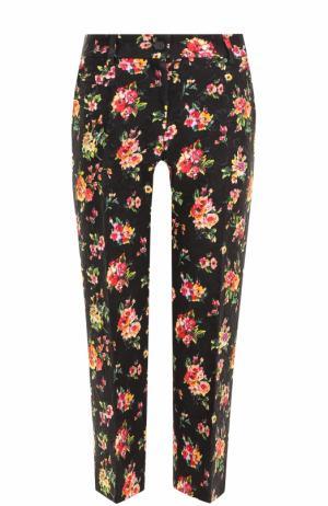 Укороченные брюки с цветочным принтом Dolce & Gabbana. Цвет: разноцветный
