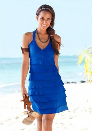 Легкое платье Beach Time Otto. Цвет: синий