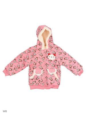 Куртка Kidly. Цвет: розовый, коричневый