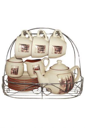 Чайный набор из 15 предметов TERRACOTTA. Цвет: мультицвет