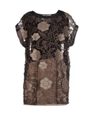 Короткое платье X'S MILANO. Цвет: хаки