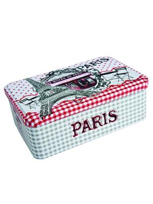 Контейнер для хранения сахара 20х13х7 см Парижское бистро Orval. Цвет: белый, черный, красный
