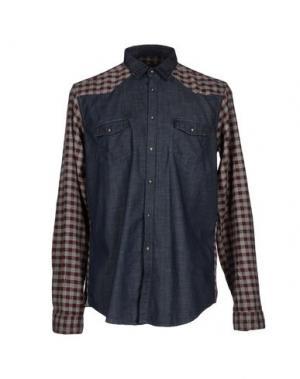 Джинсовая рубашка N° 4 FOUR. Цвет: синий