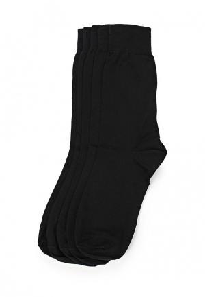 Комплект носков 5 пар Uomo Fiero. Цвет: черный