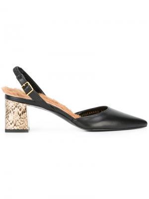 Декорированные туфли с ремешком на пятке Muveil. Цвет: чёрный