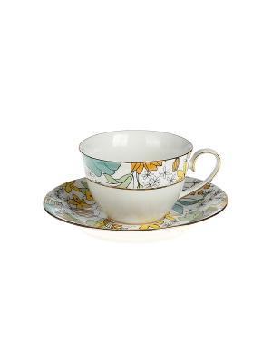 Набор чайный 2 предмета 220 мл. PATRICIA. Цвет: желтый