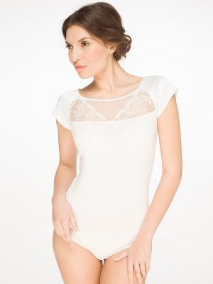 Блузка- боди Arefeva. Цвет: кремовый
