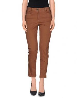 Повседневные брюки CAPPELLINI by PESERICO. Цвет: коричневый